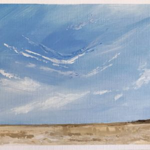 Painting inspired by the beautiful blue skies at the beach
