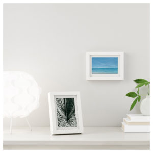 mini tropical beach paintings in frame