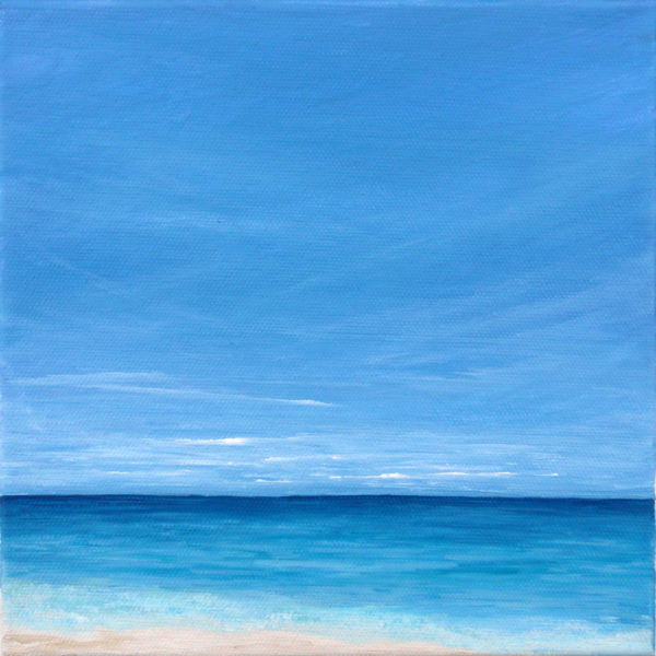 tropical beach painting on canvas