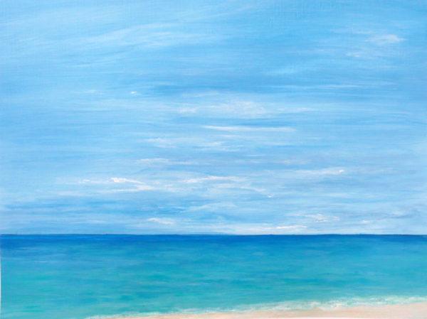 tropical beach acrylic painting