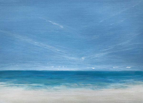 Tropical beach painting