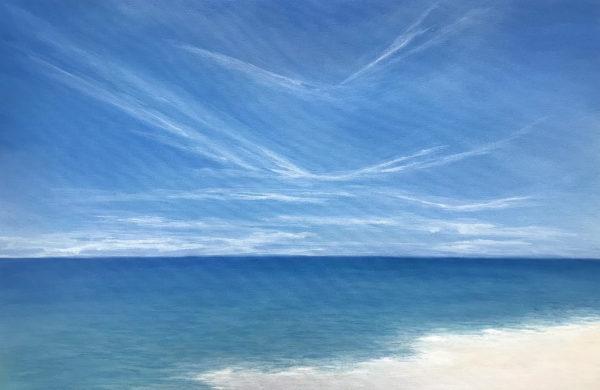 calming beach painting