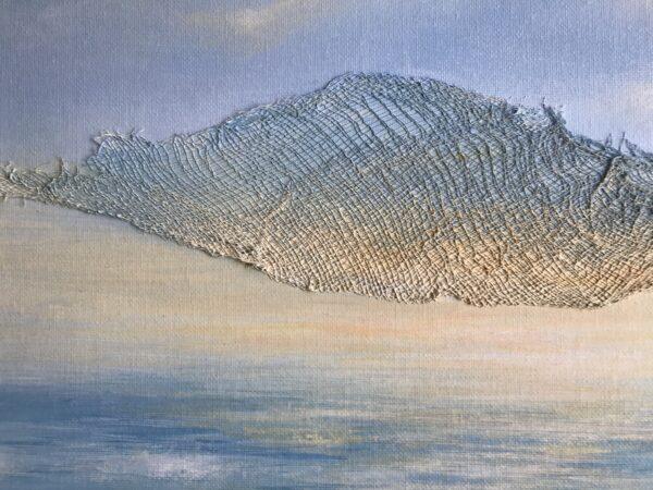 textured sunrise acrylic painting