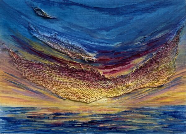 vibrant acrylic painting