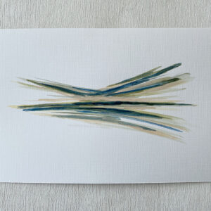 mini ink abstract Sage green painting on paper
