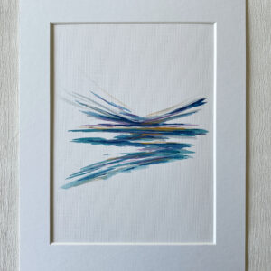 mini ink abstract painting on paper
